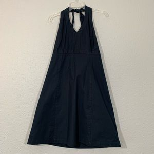 GAP Crisp Black Halter Dress size 14